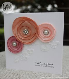 The Delilah #lace and #floral #weddinginvitation by www.lavastationery.com.au