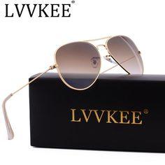 Hot Classic Brand Aviator glass lenses Gradient sunglasses men women Mirror sun glasses Male 58mm G15 lens gafas de sol mujer