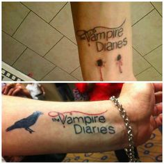 The vampire diaries tattoo. dedication and true fan! forrest patron this will be my first tattoo