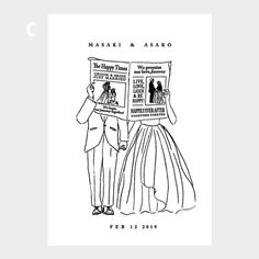 【ウェルカムボード】 FUNNY 4種 イラスト A3 自立式額フレーム付 | 小西製作所 Wedding Card Design, Wedding Cards, Invitation Cards, Wedding Invitations, Wedding Motifs, Cute Birthday Gift, Buch Design, Wedding Illustration, Minimal Wedding