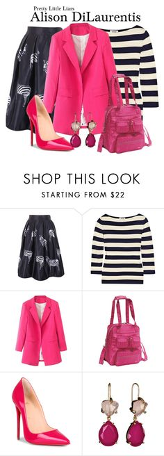 """Pretty Little Liars"" by sparkle1277 ❤ liked on Polyvore featuring Moschino, WithChic, Christian Louboutin and Isharya"