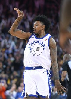 6ead4f235dbf Golden State Warriors  Nick Young (6) celebrates after making a three-point