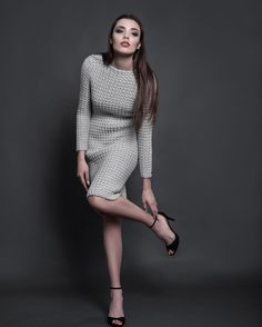 Our goal is to keep old friends, ex-classmates, neighbors and colleagues in touch. Crochet Needles, Knit Crochet, Crochet Fashion, High Neck Dress, Clothes For Women, Knitting, Crochet Dresses, Womens Fashion, Fashion Boards