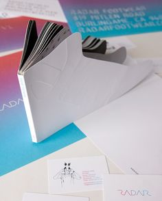 brochure shaped in the shape of the product is interesting and stays in the mind way longer