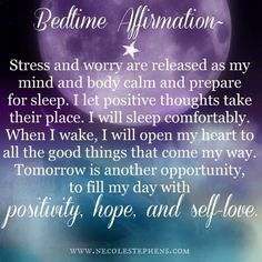 A positive affirmation to help you fall asleep