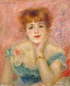 ピエール=オーギュスト・ルノワール『ジャンヌ・サマリーの肖像』