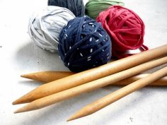 Turn your t-shirts into yarn, and knit it into other creations!