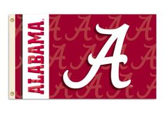 big sale 8a311 5dcd1 NCAA Alabama Crimson Tide 2-Sided 3-by-5 Foot Flag with Grommets