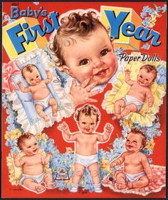 """UNCUT Merrill Archive Copy """"Baby's First Year"""" #4863/1945 (M16)"""