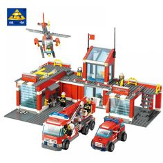 K Models Building toy Compatible with Legoings Fire Blocks Toys Hobbies For Boys Girls Model Building Kits Model Building Kits, Building Blocks Toys, Best Kids Toys, Toys For Boys, Toy Trucks, Fire Trucks, Playmobil Toys, Outdoor Supplies, 3d Figures