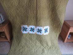 This is the back of the Big Star, Little Star Quilt.