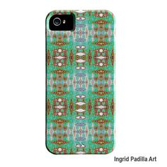 Geometric iPhone 5 Case or iPhone 4 Case turquoise by ingridsart, $39.00