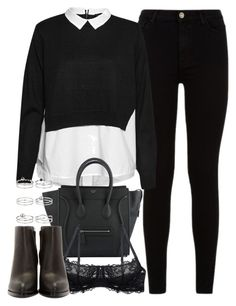 """""""outfit for an interview in the winter"""" by ferned ❤ liked on Polyvore featuring 7 For All Mankind, French Connection, Montelle, Alexander Wang and Miss Selfridge"""