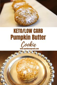 KETO/Low Carb Pumpkin Butter Cookies are the perfect Fall cookie that everyone can enjoy . #pumpkin #cookie #fall #keto #ketolife #ketogirl #ketocookie #sparklesnsprouts