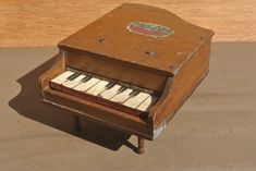 Vintage Wooden Small Grand Piano. Rare Baby Grand Piano with Musical Notes. by GoldenGully on Etsy