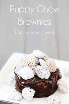 Puppy Chow Brownies {Gimme Some Oven}