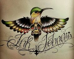 Passaralho do InkJohners. #sketch #draw #drawing #artwork #inkjohners #art #bird #color #newschool