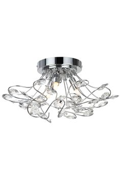 Shop the Olivia Chandelier in Chrome at BHS. Swag style ceiling light with sparkling crystals cascading through the centre creating a dazzling effect when lit. Lamp, Ceiling Lights, Closet Door Hardware, Lights, Light, Chandelier, Chrome, Hardware