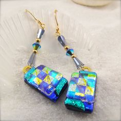 Pacifica Joy Dichroic Earringsjewelrydichroic by HanaSakuraDesigns