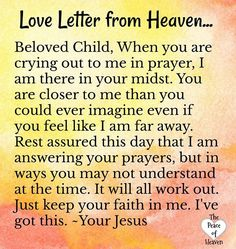 Letter from Heaven Prayer Scriptures, Bible Prayers, Faith Prayer, God Prayer, Prayer Quotes, Faith In God, Faith Quotes, Bible Quotes, Catholic Prayers Daily