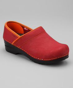 Take a look at this Red Original Professional Electra Closed Clog - Women by Sanita Clogs on #zulily today!- - For my girls on their feet @Courtney Killday and @Kathie Killday