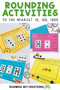 Everything you need to teach the concept of rounding! This resource is designed to provide you and your students with 13 hands-on, differentiated activities to develop rounding number skills. Rounding Activities, Hands On Activities, Primary Maths, Primary Classroom, Fourth Grade, Grade 3, Professional Development For Teachers, Teaching Resources, Teaching Ideas