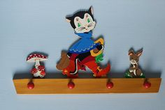 Vintage childrens 'puss in boots' wall hook by FrauSvensson, $35.00