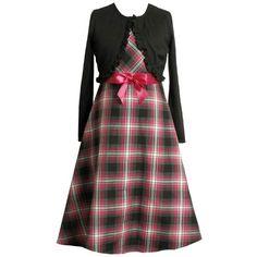 daac7ba6dbb Bonnie Jean Girl PLUS SIZE 12.5-20.5 2-Piece BLACK PINK Bow Front Metallic