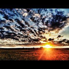 Sunset in Billings MT
