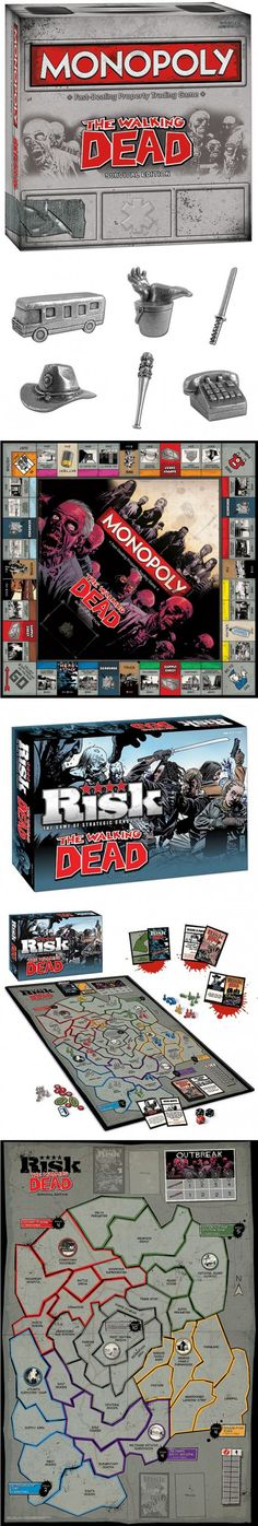 The Walking Dead board games ~ #TWD #TheWalkingDead-NEED! :)  I want this!!!!