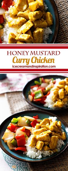 Dinner is on the table in just 15 minutes with this super simple, delicious Honey Mustard Curry Chicken. Just four ingredients are needed for this recipe.