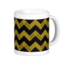2015 Grad Chevron Mug, Gold-Black #zazzle #mugs #chevron #grad #black #gold
