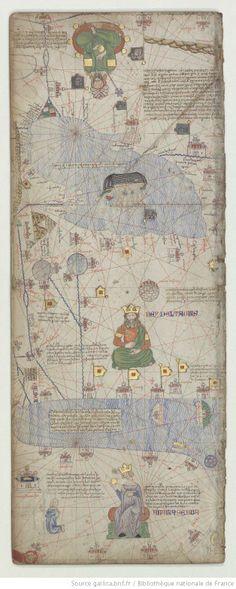 Abraham Cresques ?, Atlas de cartes marines , dit [Atlas catalan]