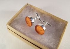 Composite Amber Cufflinks Handmade Round Wedding Cuff Links Gifts for Groom Groomsmen Birthday Gifts for Him Gifts for Men - Ready to Ship by ElkAndIron on Etsy https://www.etsy.com/listing/172694538/composite-amber-cufflinks-handmade-round