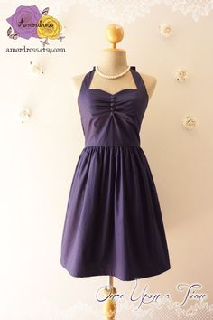 Vintage Inspired Dress Navy Party Dress Classic Bridesmaid Dress Once Upon A Time -Size XS, S, M, L, CUSTOM on Etsy, $51.28 CAD