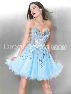 Brilliant A-Line Sweetheart Mini/Short-Length Ruffles Prom/Homecoming Dresses