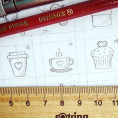 Coffee tea or a muffin. Or all of them! Bit.ly/loveIcons #icon #icons #iconaday #icondesign #valentines #love #handdrawn #handcrafted #etsy #sketch #scrapbooking #creativemarket #tinyart #tea #coffee #muffins by qczma