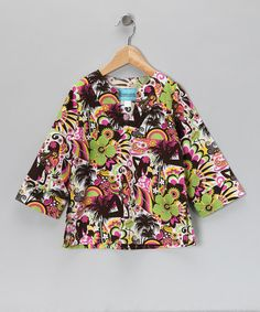 Take a look at this Pink Hawaii Tunic - Toddler & Girls by Coradorables on #zulily today!