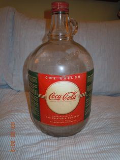 1940's Coca-Cola One Gallon Soda Fountain Syrup Jug Bottle