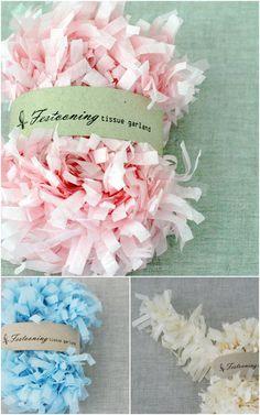 tissue paper garlands