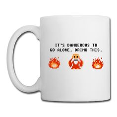 Legend of Zelda It's Dangerous To Go Alone Drink This Mug $18.99