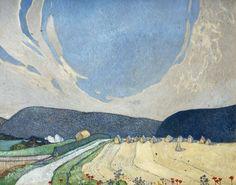 The South Downs near Eastbourne by Edward Reginald Frampton - print