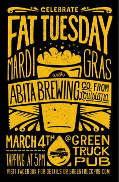 Poster promoting Abita Tap takeover at Green Truck Pub – Beer Hipster Graphic Design, Graphic Design Posters, Event Poster Design, Event Posters, Food Posters, Poster Designs, Movie Posters, Hipster Poster, Food Truck Festival