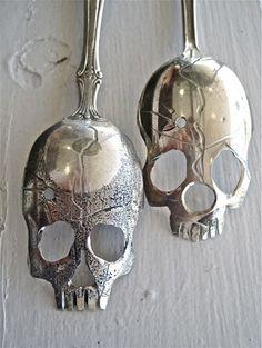 Skull Spoons by Pinky Diablo aka Tom Sale