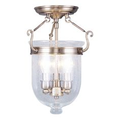 Shop Livex Lighting 3-Light Jefferson Semi Flush Ceiling Light at The Mine. Browse our semi flush ceiling lights, all with free shipping and best price guaranteed.