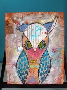 Look Within - Mixed Media painting by Nolwenn Petitbois, via Flickr