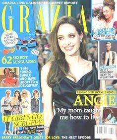 Angelina Jolie - Grazia Magazine Cover [South Africa] (24 May 2013)
