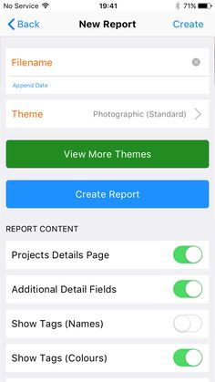 Site Report Pro Theme Screen  Select From A Range Of Configurable