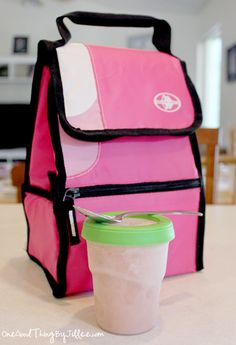 Lunch box smoothies help keep your lunch cold, and will melt to cool and creamy perfection by lunchtime!