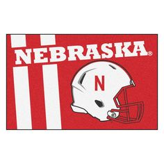 Nebraska Cornhuskers Uniform Inspired Area Rug